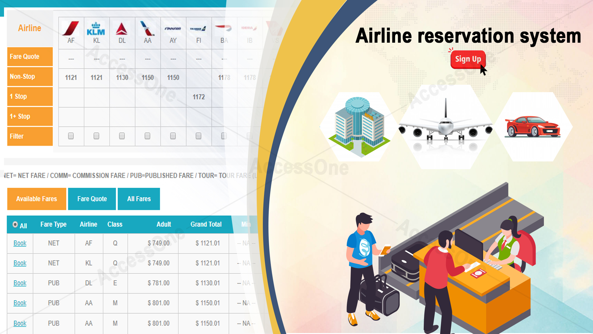 Retail Internet Booking Engine with remarkable features
