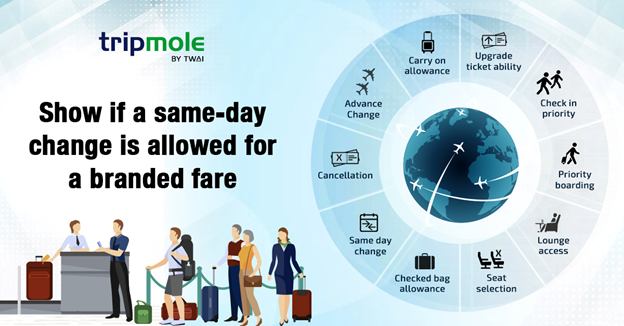 Meet digital age demands by showing branded fare ticket attributes