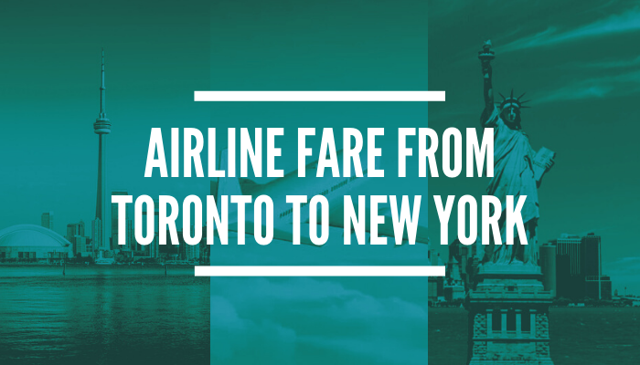 How much is the Cheapest Flight from Toronto to New York?