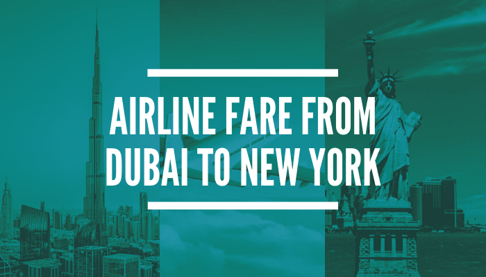 How much is the Cheapest Flight from Dubai to New York?